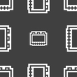 Book icon sign Seamless pattern on a gray vector image vector image
