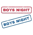 Boys Night Rubber Stamps vector image vector image