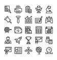 business and office line icons 13 vector image vector image