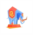 Circus Trained Elephant vector image vector image