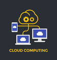 cloud computing technologies vector image vector image