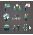 Collection of flat business people vector image