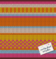 colorful knitted striped seamless pattern vector image vector image