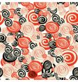 colorful seamless pattern with circle vector image vector image