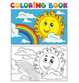 coloring book summer image 1 vector image vector image