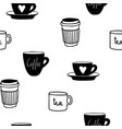 cups mug pattern seamless tile background hand vector image vector image