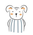 cute doodle puppy simple hand drawn vector image vector image