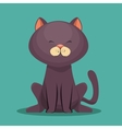 Cute kitti gray sit icon