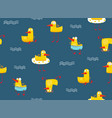 cute yellow baby duck pattern seamless pattern vector image