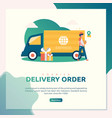 delivery order vector image vector image