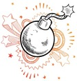 doodle pop bomb vector image vector image
