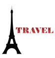 eiffel tower travel vector image