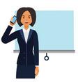 entrepreneur woman businesswoman cartoon flat vector image vector image