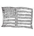 flag of the east india company 1881 vintage vector image vector image