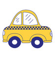 full color taxi car vehicle to transport service vector image vector image