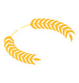 gold laurel icon isometric style vector image