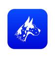 great dane dog icon digital blue vector image vector image