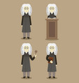 hand drawn legal judge set vector image vector image