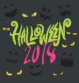 happy halloween party lettering card vector image vector image