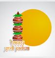 hindu festival gudi padwa background vector image vector image