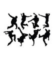 hip hop silhouettes vector image vector image