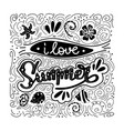i love summer summer quote handwritten for vector image vector image