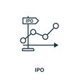 ipo outline icon thin style design from startup vector image vector image