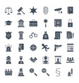 law justice solid web icons vector image