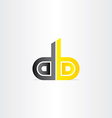 letter d and b business icon vector image