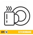 line icon kitchenware vector image vector image