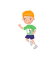 little boy running kids physical activity cartoon vector image