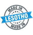 made in lesotho blue round vintage stamp vector image vector image