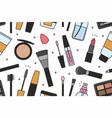 makeup tools seamless pattern vector image vector image