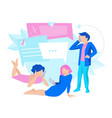 message business people concept vector image
