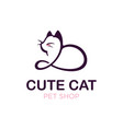modern professonal logo cat pet vector image vector image