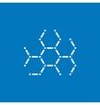 Molecule line icon vector image vector image
