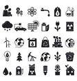 monochrome icons set of ecology pictures vector image vector image