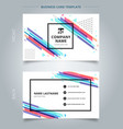 namecard template colorful geometric pattern vector image