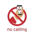 No calling icon vector image