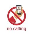 No calling icon vector image