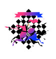 pawns on horseback with a spear for website vector image vector image