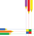 pencil set color vector image
