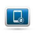 Phone with save menu icon vector image