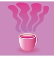 pink drink vector image vector image
