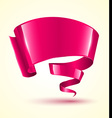 Pink ribbon banner twist