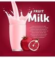 Pomegranate sweet milkshake dessert cocktail vector image vector image