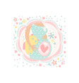 pregnant woman expecting child birth belly with vector image