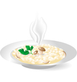 rice with porcini mushrooms vector image