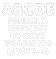 rippled alphabet numbers with polka dots vector image vector image