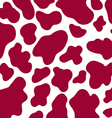 seamless cow skin pattern vector image vector image